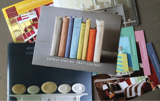 Palette colours and books