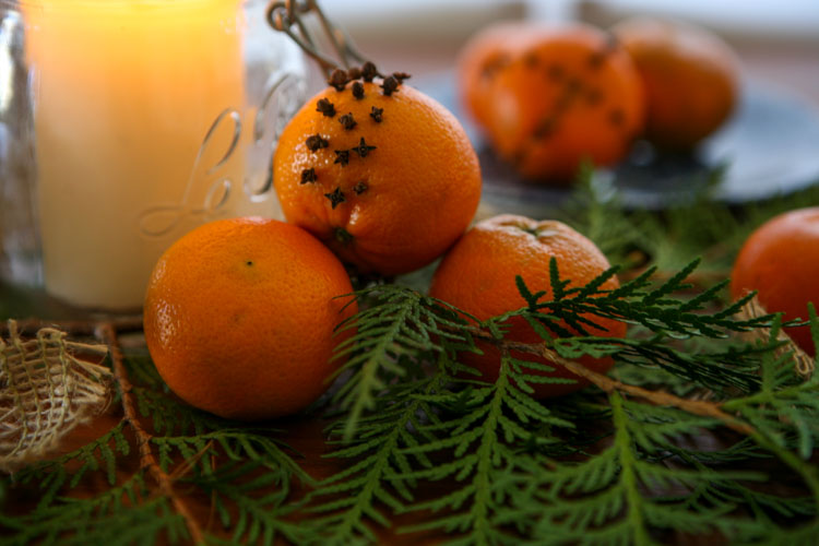 close up of pomanders and tangerines