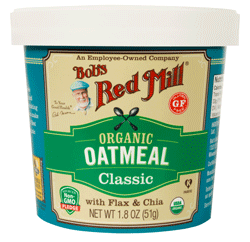 Bob's Red Mill Organic Oatmeal Cups - healthy fast foods