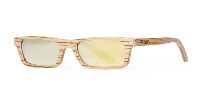 Boise Zebra Gold Sunglasses by Proof Eyewear