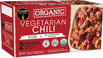 Cuisine Adventures Organic Vegetarian Chili - healthy fast foods