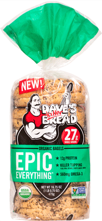 Dave's Killer Bread Organic Bagels - healthy fast foods