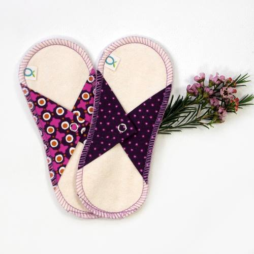 eco-friendly period options: product shot oko creations reusable pads
