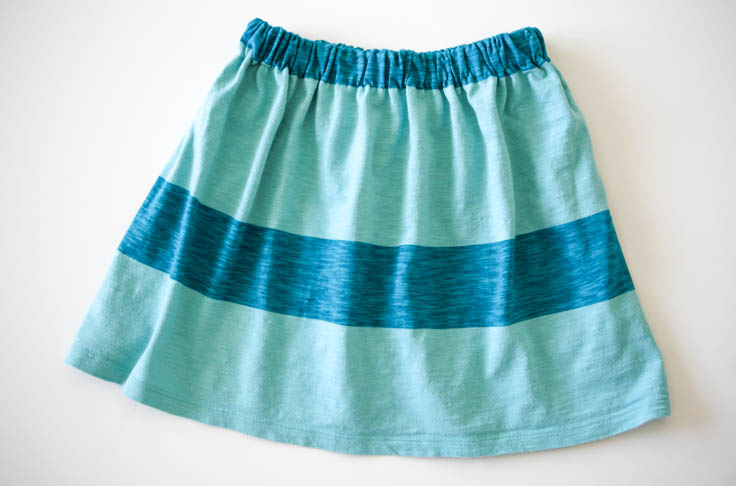 completed t-shirt skirt