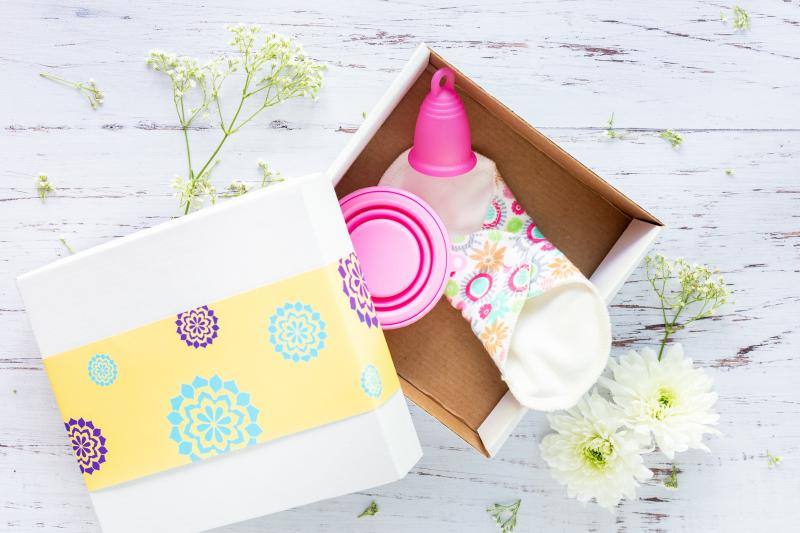 menstrual pads and cup