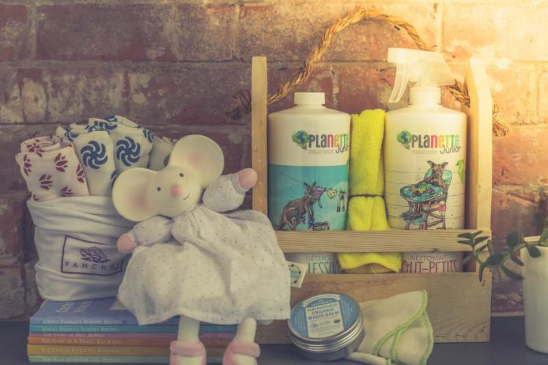 collection of baby care products