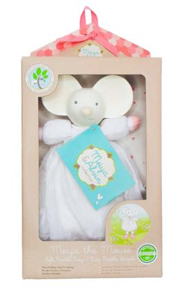 Meiya the mouse soft rattle toy in box