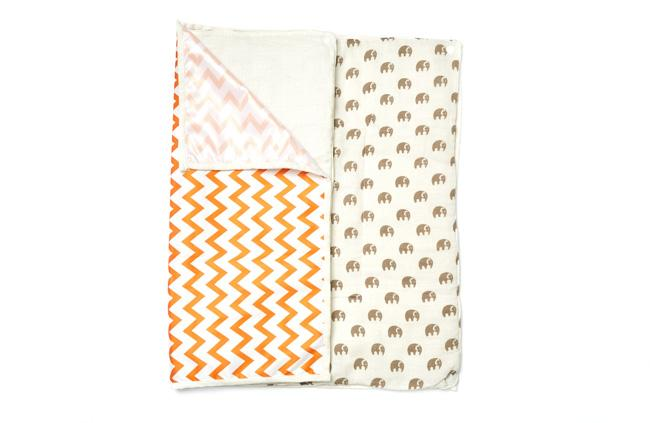 patterned baby changing mat