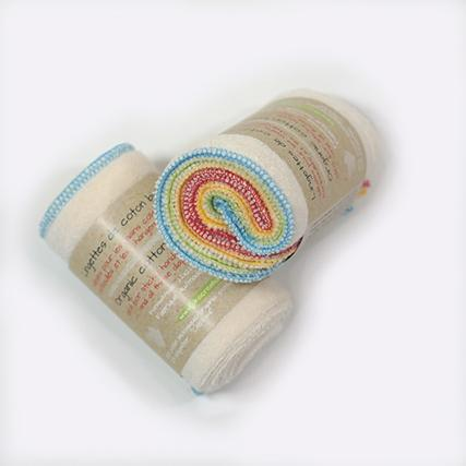 rolled-up cloth baby wipes